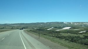 There were still some patches of snow on the ground as we made our way to Cheyenne.