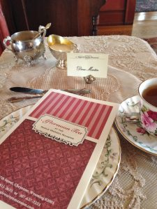 My afternoon tea table on Saturday afternoon.