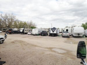 The campground was primarily inhabited by long term residents who were in town for construction and other temporary jobs. The spots were tight and there wasn't much to look at.