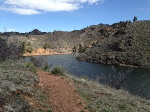 The Crystal Reservoir at Curt Gowdy State Park.