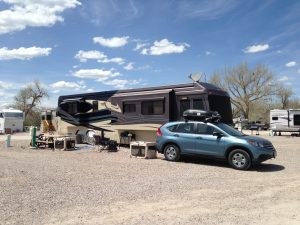 We stayed at the Fort Caspar Campground, it was our third choice for parks in the area. The first two choices were booked and this one stayed pretty full for the week we were there.