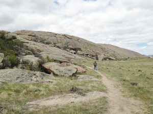 There is a trail around the base of the rock which is approximately one mile long.