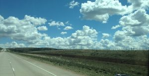 It didn't take long to find the windmill farms along I-80 as we traveled east.