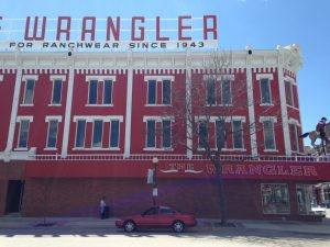 I just loved this giant red and white building near the depot in downtown.