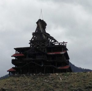 This the kookiest house I've seen since we started our trip. Actually... ever. Sorry the picture is dark. It was on the road to Yellowstone and it was always cloudy when we passed by.