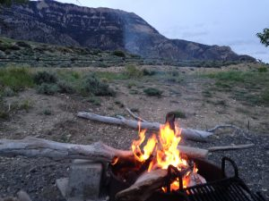 Our last Wyoming campfire.