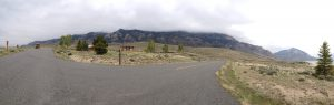 A panorama of the campground entrance (wish we had discovered this photo feature earlier in our trip)!