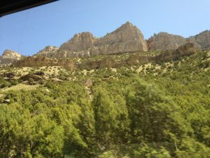 A taste of what my views out the passenger side window looked like as we drove from Casper to Cody.