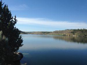 Ririe Reservoir.