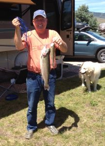 Mike landed the largest and smallest trout he's ever caught both on the same day.
