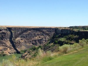 The I.B. Perrine Bridge in Twin Falls.
