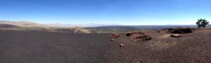 A panorama from the top of Inferno Cone.