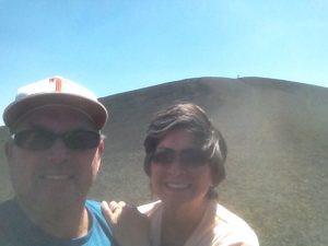 Selfie on the way to the top of Inferno Cone.