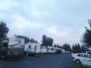 Full occupancy at our RV park.