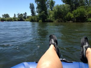 We did a river float through the middle of Boise one afternoon. The current was swift and it took us about two hours to float from Barber Park to Ann Morrison Park.