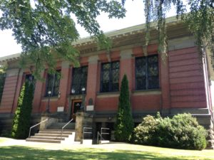The historic Carnegie Library in Walla Walla.