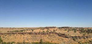 I thought this ribbon of rocks was an interesting feature on our drive between Idaho Falls and Declo.