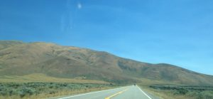Our view as we drove to Craters of the Moon.