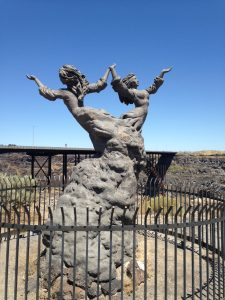 I just loved this Twin Falls Sculpture. It is simply called the Twins Statue.
