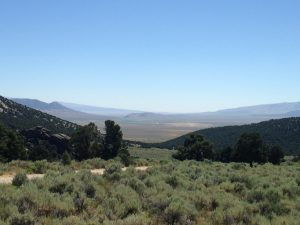 A view from the Circle Creek Overlook near the Almo entrance to the City of Rocks.