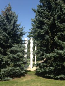 The WSU campus has lots of neat art placed at various locations across the campus.
