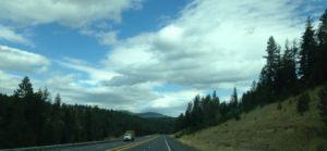 Our drive from Potlatch to Coeur d'Alene was a straight shot north on Highway 95. It widened from two lane to four lanes as we got closer to the lake.