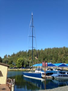 The Hagadone boat happened to be at the marina on our last morning. It was custom built by a company in Coeur d'Alene, and the mast was 100-feet tall.