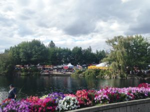 Riverfront park is a 100-acre park along the Spokane River in downtown Spokane. It is a beautiful venue and the city takes advantage of this amenity by hosting special events and festivals constantly.