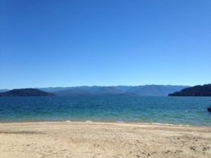 Lake Pend Oreille from City Beach in Sandpoint, Idaho.