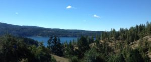 Lake Coeur d'Alene from I-90.