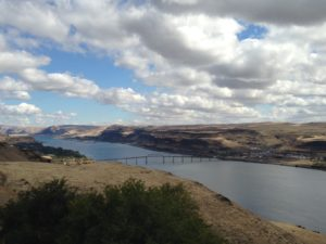 The Columbia River from the Maryhill Museum of Art. The views are spectacular even before you enter the building of exhibits!