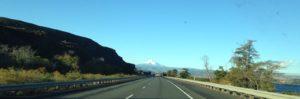 Mount Hood in the distance on our drive to The Dalles, Oregon.